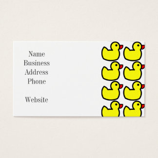 Cute Bright Yellow Rubber Ducky Pattern Business Card