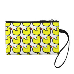 Cute Bright Yellow Rubber Ducky Pattern Change Purse