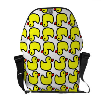 Cute Bright Yellow Rubber Ducky Pattern Courier Bag