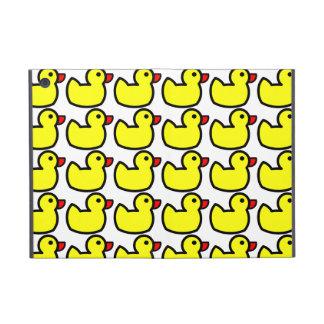 Cute Bright Yellow Rubber Ducky Pattern iPad Mini Covers