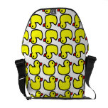 Cute Bright Yellow Rubber Ducky Pattern Messenger Bags