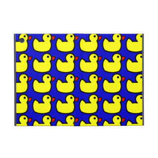 Cute Bright Yellow Rubber Ducky Pattern on Blue Covers For iPad Mini
