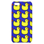 Cute Bright Yellow Rubber Ducky Pattern on Blue iPhone 5C Covers