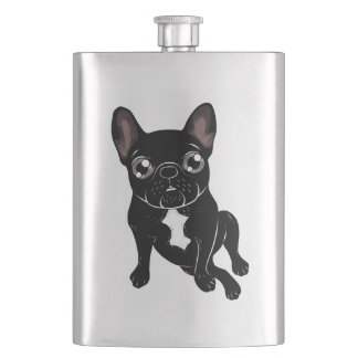 Cute brindle Frenchie is your best friend Flask
