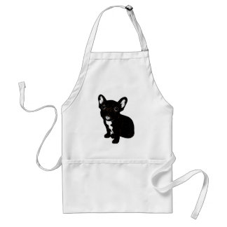 Cute Brindle Frenchie Puppy Adult Apron