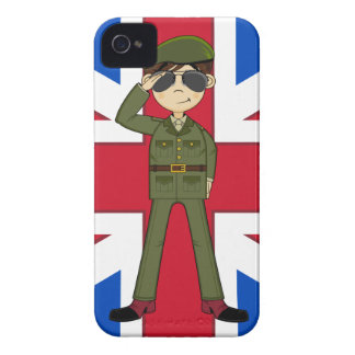 Cute British Army Soldier iphone Case iPhone 4 Case-Mate Cases
