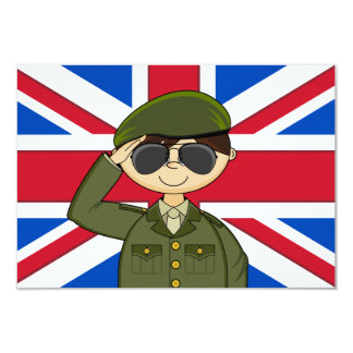 Cute British Army Soldier RSVP Card
