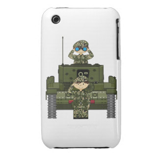 Cute British Army Soldiers and Tank iphone Case iPhone 3 Case-Mate Cases