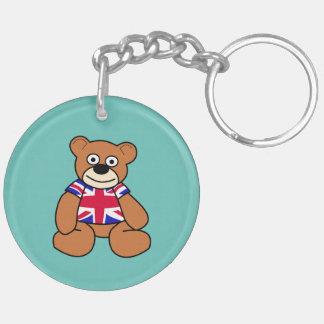 Cute British Flag Teddy Bear Keychain