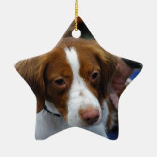 Cute Brittany Spaniel Christmas Ornament