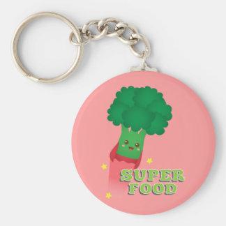 Cute Broccoli Vegetable, Super food Keychain