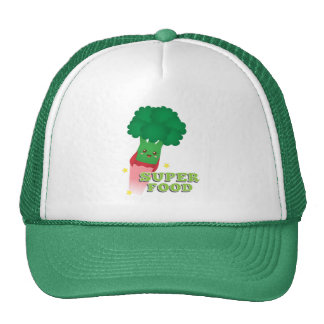 Cute Broccoli Vegetable, Super food Trucker Hat
