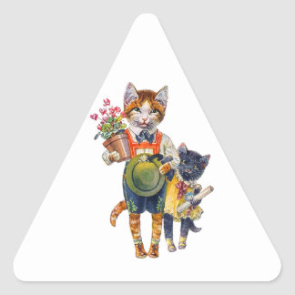 Cute Brother and Sister Kittens Delivering Gifts Sticker