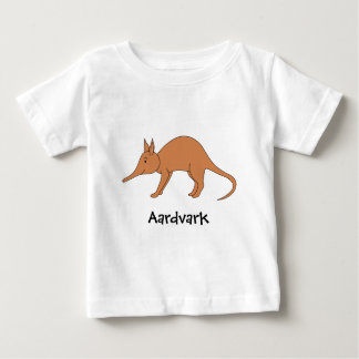 Cute Brown Aardvark Baby T-Shirt