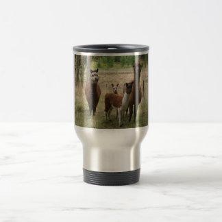 Cute Brown Alpacas In The Zoo 15 Oz Stainless Steel Travel Mug