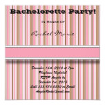 CUTE Brown and Pink Bachelorette Party Invitation