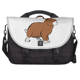 Cute Brown and White Bunny Rabbit Computer Bag