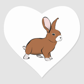 Cute Brown and White Bunny Rabbit Sticker