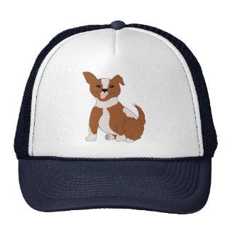 Cute Brown And White Puppy Trucker Hat