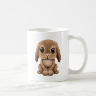 Cute Brown Baby Bunny Coffee Mug