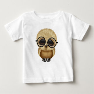 Cute Brown Baby Owl Wearing Glasses Baby T-Shirt