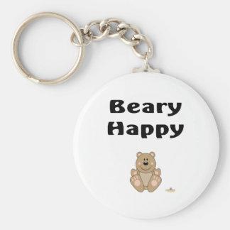 Cute Brown Bear Beary Happy Keychain