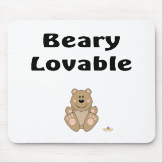 Cute Brown Bear Beary Lovable Mouse Pad