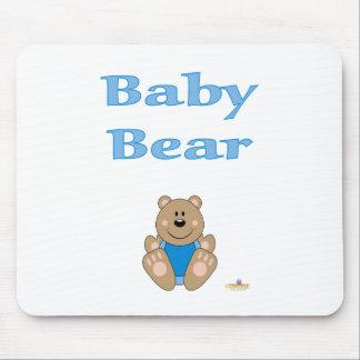 Cute Brown Bear Blue Bib Baby Bear Mouse Pad