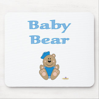 Cute Brown Bear Blue Sailor Hat Baby Bear Mouse Pad