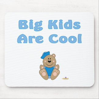 Cute Brown Bear Blue Sailor Hat Big Kids Are Cool Mouse Pad