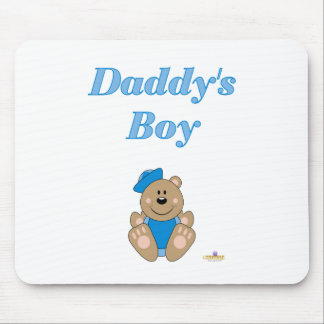 Cute Brown Bear Blue Sailor Hat Daddy's Boy Mouse Pad