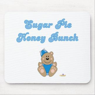 Cute Brown Bear Blue Silly Hat Sugar Pie Honey Bun Mouse Pad