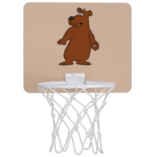 Cute brown bear design basketball goal mini basketball hoops
