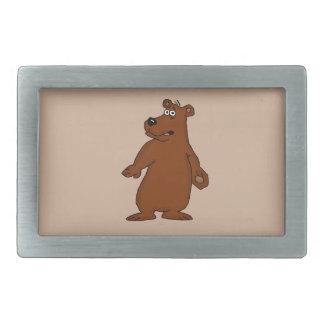 Cute brown bear design belt buckles