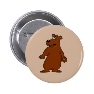 Cute brown bear design buttons and badges