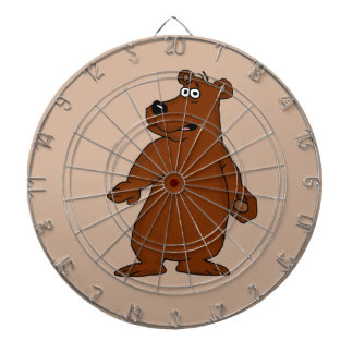 Cute brown bear design dartboards