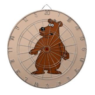 Cute brown bear design dartboards