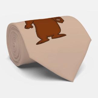 Cute brown bear design neckties