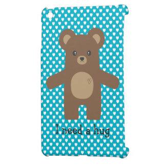 Cute Brown Bear Hug iPad Mini Cases