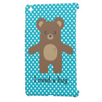 Cute Brown Bear Hug iPad Mini Cover