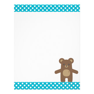 Cute Brown Bear Hug Letterhead