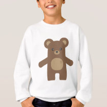 Cute Brown Bear Hug Sweatshirt