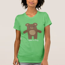 Cute Brown Bear Hug T-Shirt