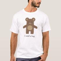 Cute Brown Bear Hug T-Shirt
