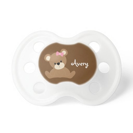Cute Brown Bear Pacifier