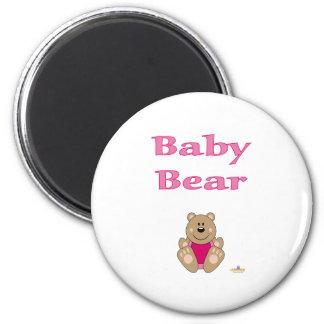 Cute Brown Bear Pink Bib Baby Bear Refrigerator Magnet