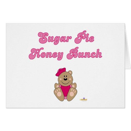Cute Brown Bear Pink Sailor Hat Sugar Pie Honey Bu Card