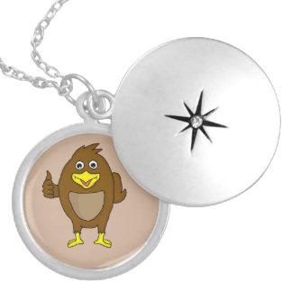 Cute brown bird design custom lockets