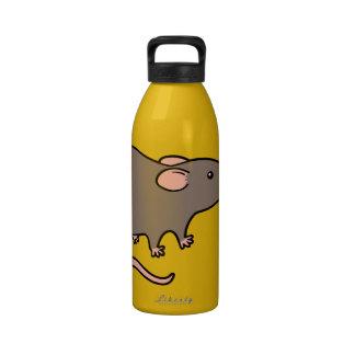 Cute Brown / black Rat Water Bottle