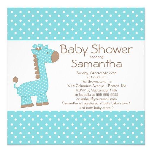 giraffe baby boy baby shower invitation our popular square baby shower